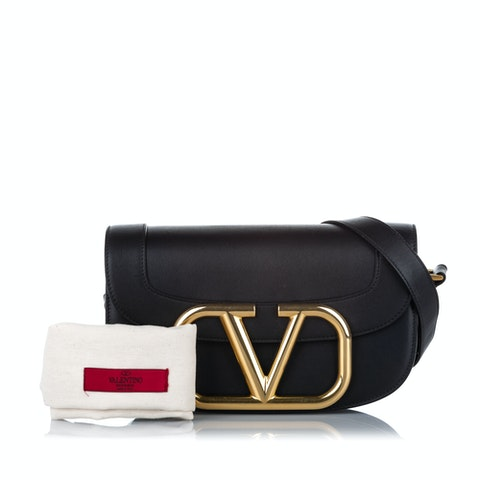 VRing Leather Crossbody Bag