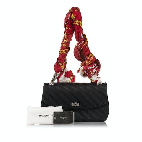 Allover Logo Blanket Reporter Leather Shoulder Bag