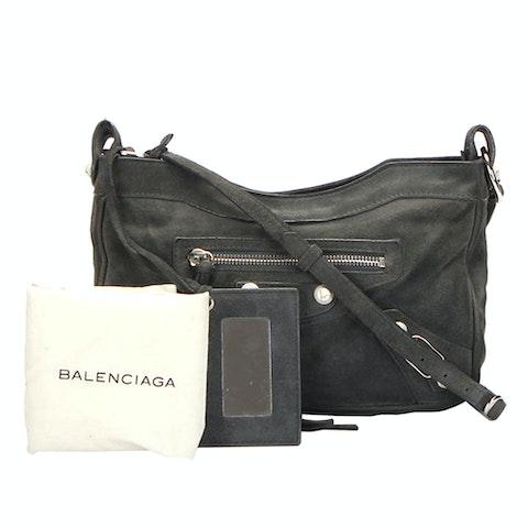 Motocross Classic Hip Lambskin Leather Crossbody Bag