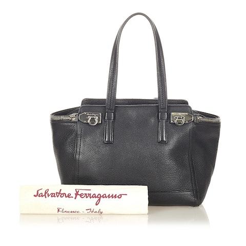 Gancini Leather Tote Bag