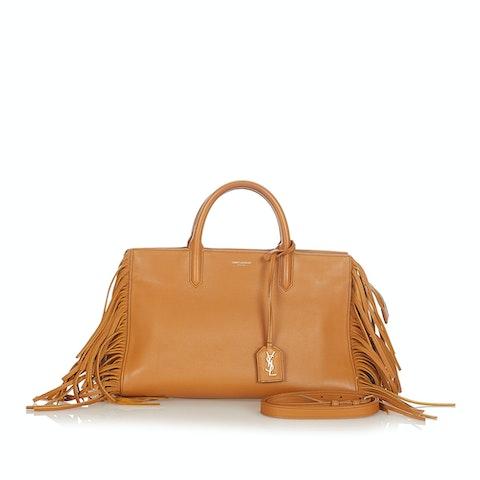 Cabas Rive Gauche Fringe Leather Satchel