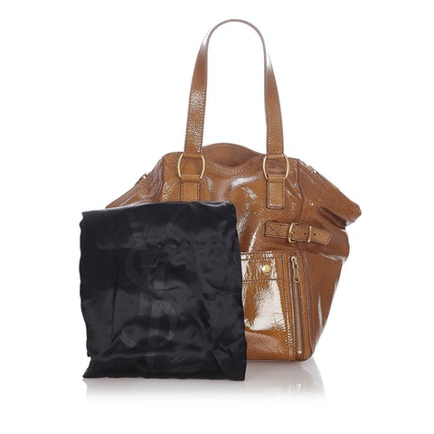 Downtown Patent Leather Tote Bag