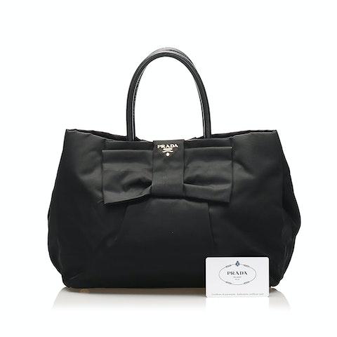 Fiocco Bow Tessuto Tote Bag