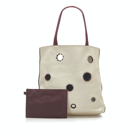 Mirror Leather Tote Bag