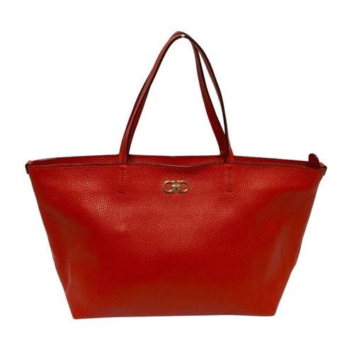 Gancio red leather Tote bag