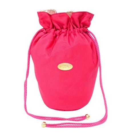 Pink cotton Clutch bag