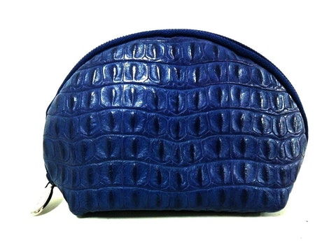 Navy Leather Clutch bag