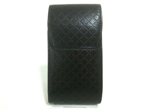 Diamante black leather
