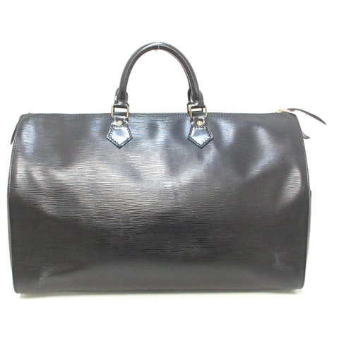 Speedy 40 black leather Travel bag