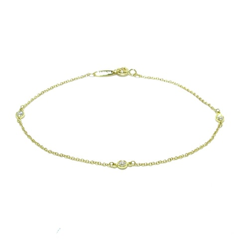 By the yard yellow gold bracelets