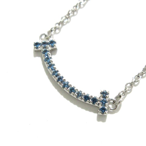 T smile silver/white gold necklace