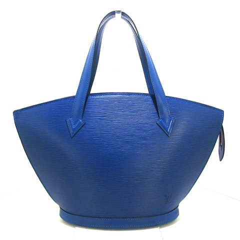 Blue leather Saint Jacques