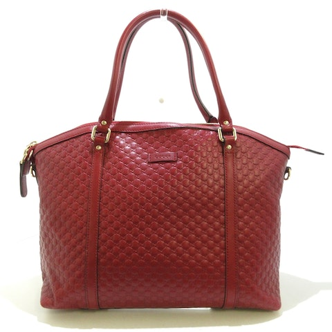 Red Leather Guccissima