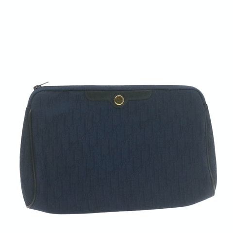 Blue Canvas Clutch bag