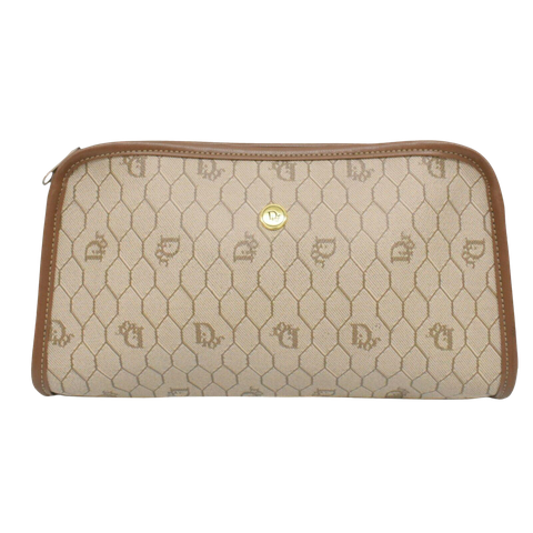 Beige Canvas Clutch bag