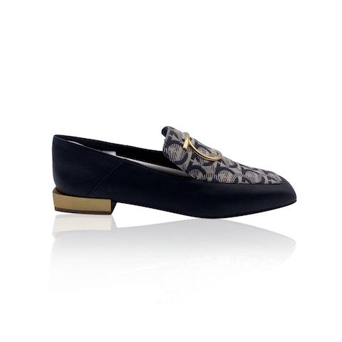 Salvatore Ferragamo Leather Gancini Lana T1 Loafers Size 8.5C 39C