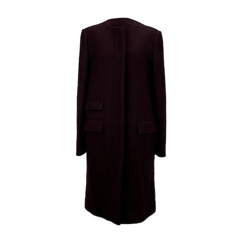 Burgundy Wool Cashmere Coat Size 46 IT
