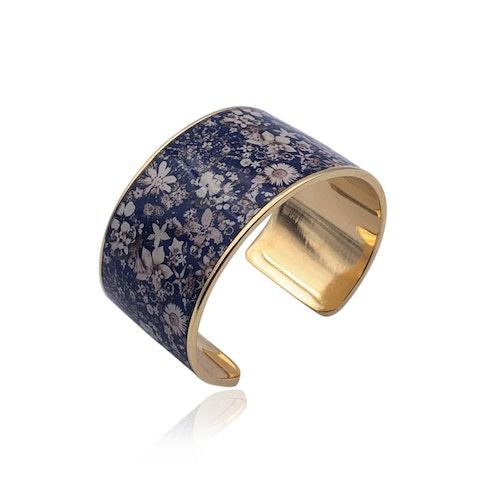 Christian Lacroix Gold Metal Floral Bracelet Cuff Mint