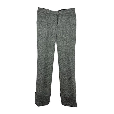 Grey Wool Wide Leg Trousers Size 42 IT
