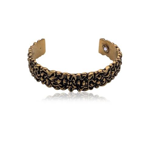 Gucci Aged Gold Metal Lion Mane Bracelet Size S Never Worn