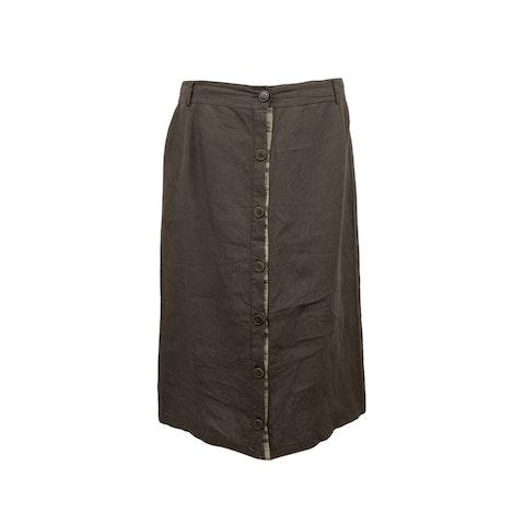 Burberry Miltary Green Button Through Pencil Skirt Size 48 IT