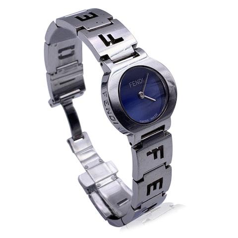 Fendi Stainless Steel 3050 L Ladies Quartz Wrist Watch Blue Dial