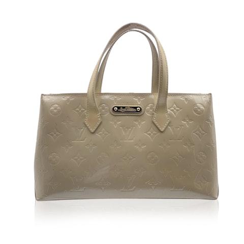Louis Vuitton Beige Monogram Vernis Wilshire PM Tote Bag