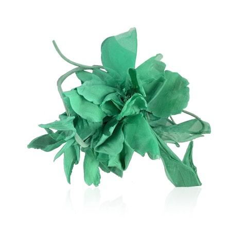 Green Silk Brooch