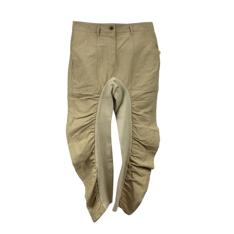 Beige Tina Wrinkled Trousers Size 38 IT