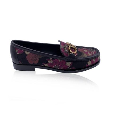 Salvatore Ferragamo Leather Rolo T Loafers Moccassins Size 7.5C 38C