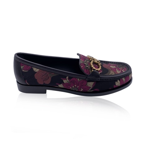 Salvatore Ferragamo Leather Rolo T Loafers Moccassins Size 5C 35.5C