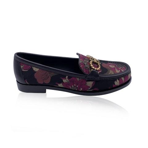 Salvatore Ferragamo Leather Rolo T Loafers Moccassins Size 7C 37.5C