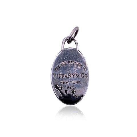 Tiffany & Co. Sterling Silver Return To Color Splash Oval Pendant