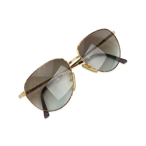 Vintage Gold Metal Sunglasses
