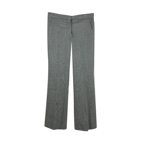 Grey Wool Cashmere Trousers Size 40 IT