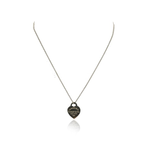 Tiffany & Co. Sterling Silver Return To Heart Tag Necklace