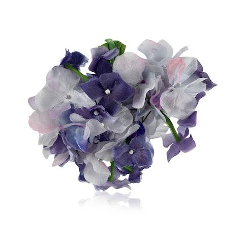 Blue Silk Brooch