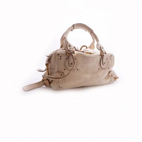 Paddington Golden Lock Offwhite Handbag