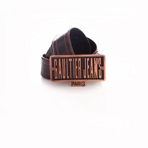 Black High Shine Leather Belt