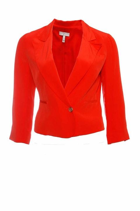 Joie, orange cropped blazer jacket in size XS.