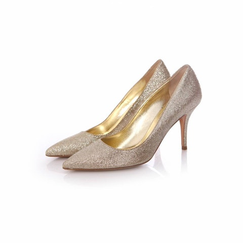 Dsquared, gold coloured glitter pumps in size 36.5.