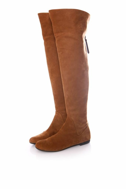 Brown Suede Over Knee Boots size 37
