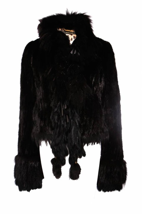 Roberto Cavalli, Black mink fur coat.