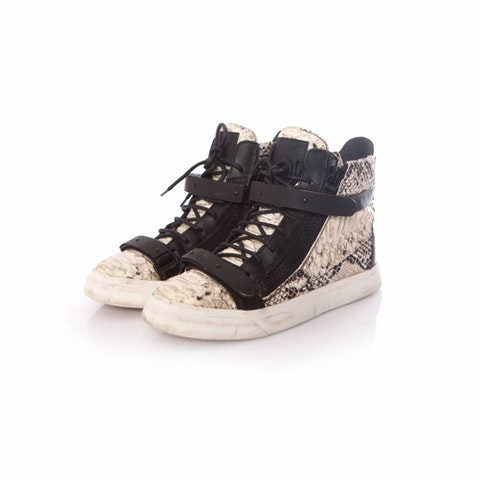 Black Leather Python Sneakers size 39