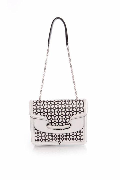 White Leather Heroine Satchel Bag