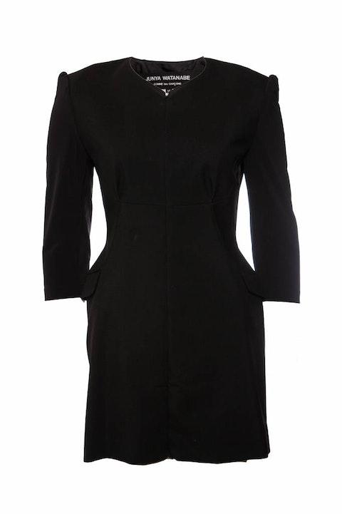 Junya Watanabe/Comme des garçons, black dress with open back in size M.