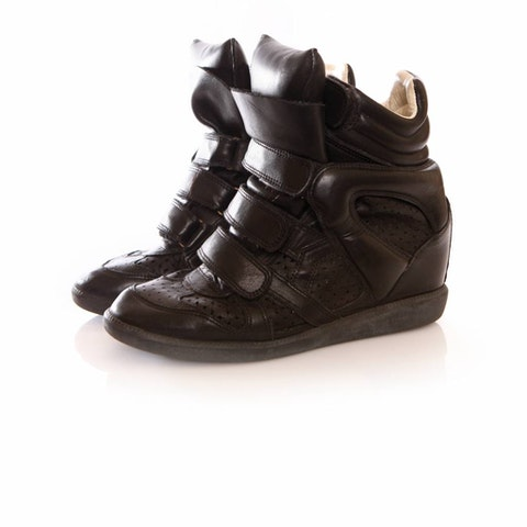 Black Leather Beckett Sneakers size 38