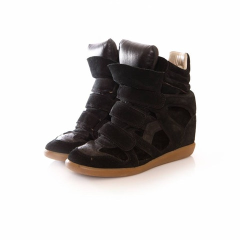 Black leather beckett sneakers - size 38