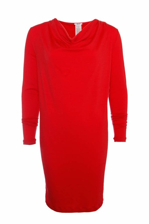 Wolford, red woolen dress.
