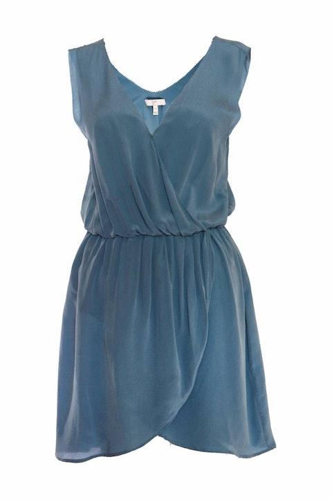 Joie, blue/green sleeveless dress.